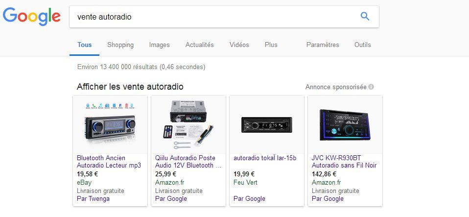 css google shopping